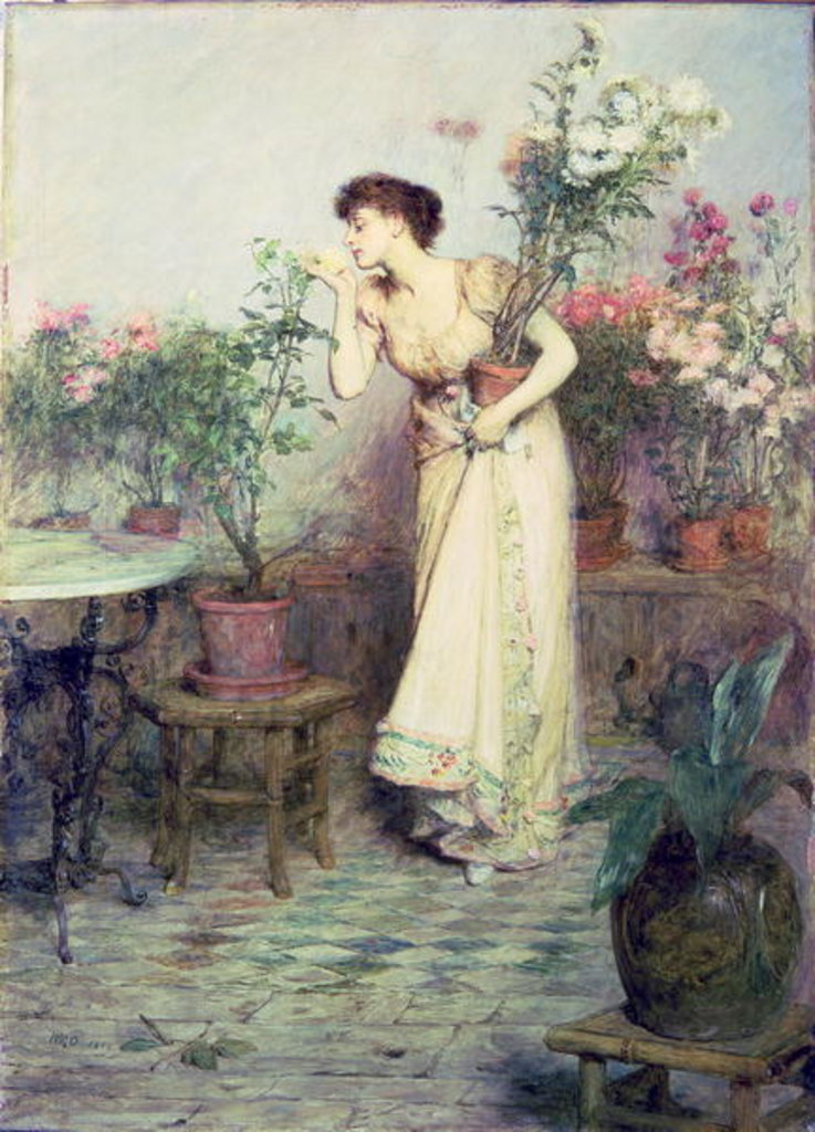 Detail of In the Conservatory, 1894 by William Quiller Orchardson