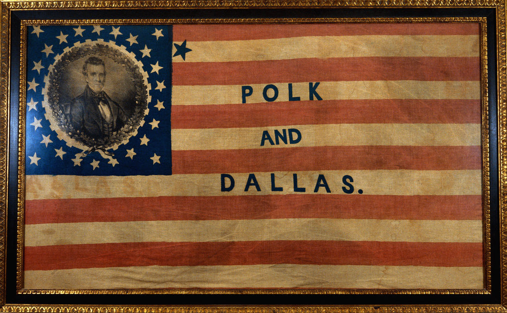 Detail of Cotton Flag Banner by Corbis