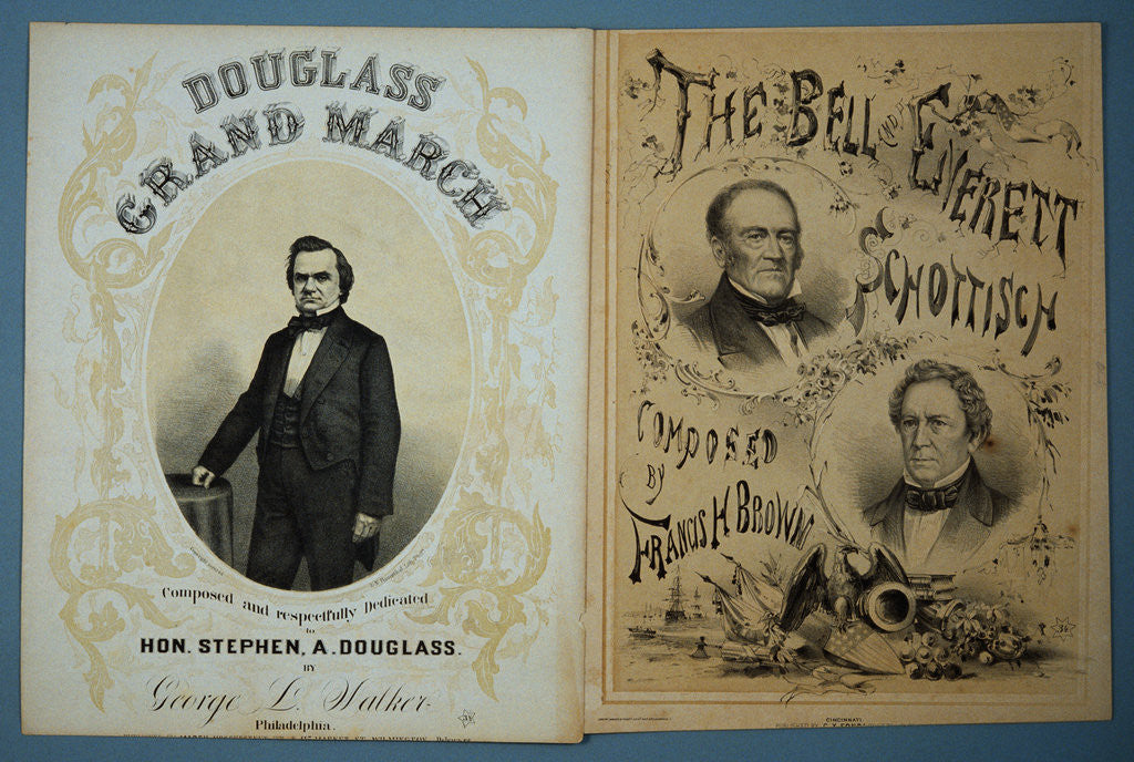 Detail of Douglas and Bell and Everett 1860 Campaign Sheet Music by Corbis