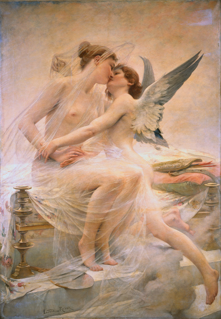 cupid and psyche posters prints by lionel noel royer