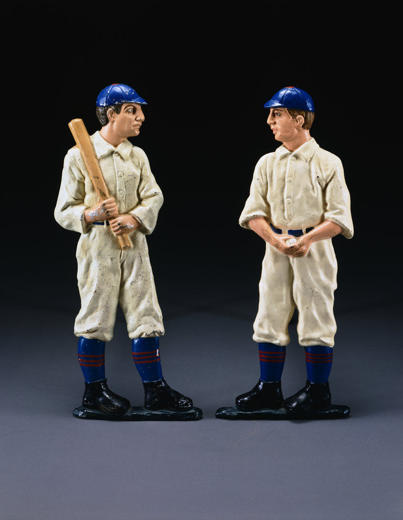 Detail of 19th Century American Baseball Player Andirons by Corbis