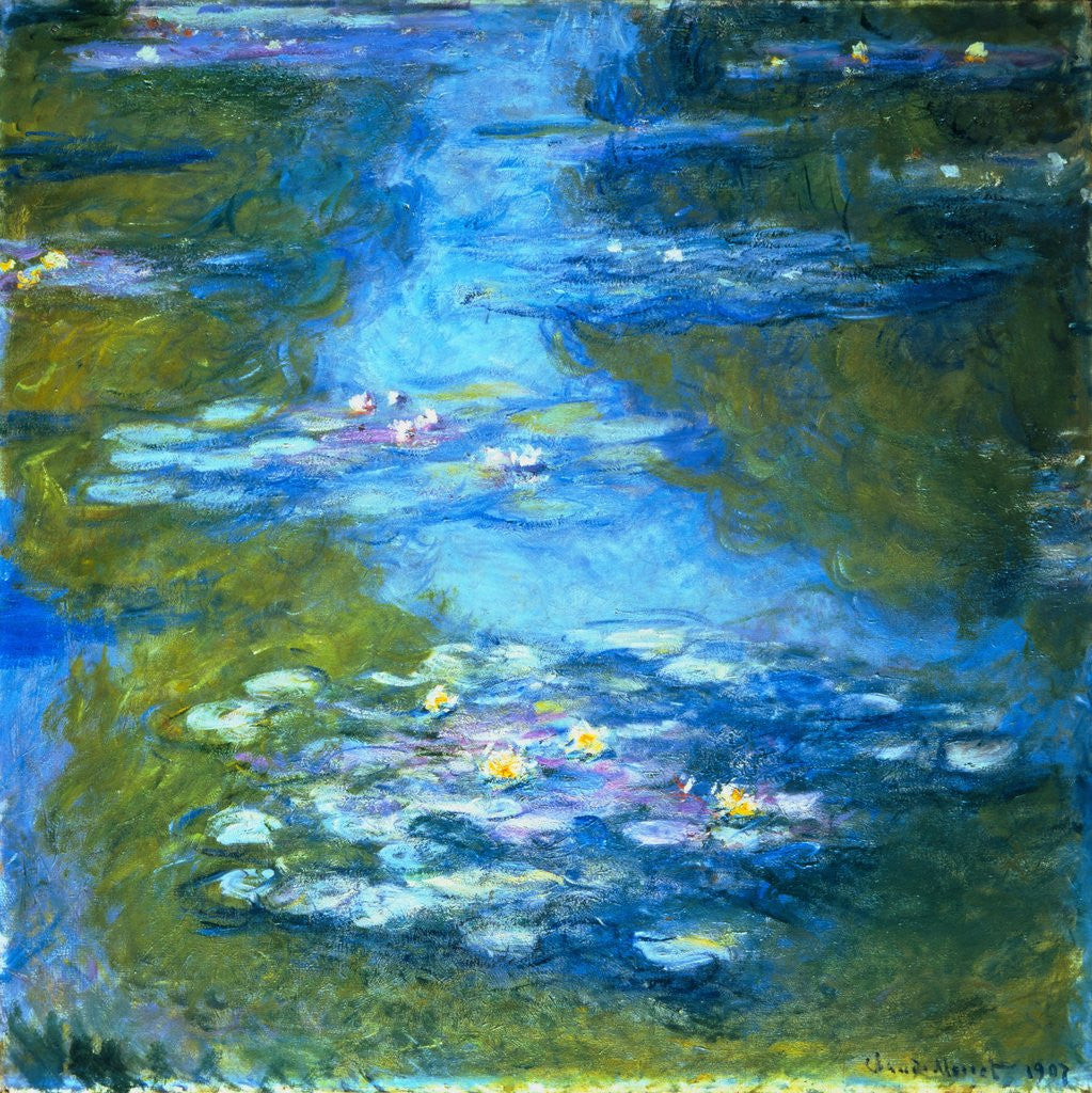 Detail of Nympheas by Claude Monet