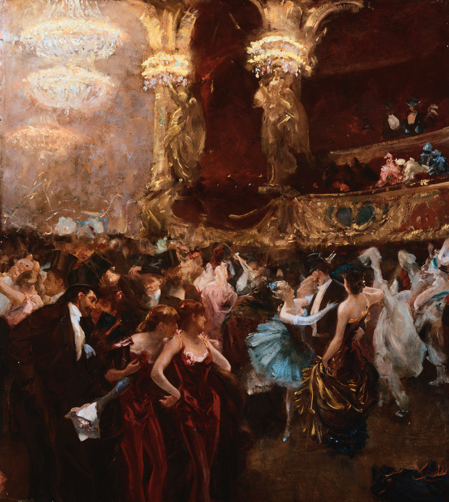 le bal masque a l 39 opera posters prints by charles hermans. Black Bedroom Furniture Sets. Home Design Ideas