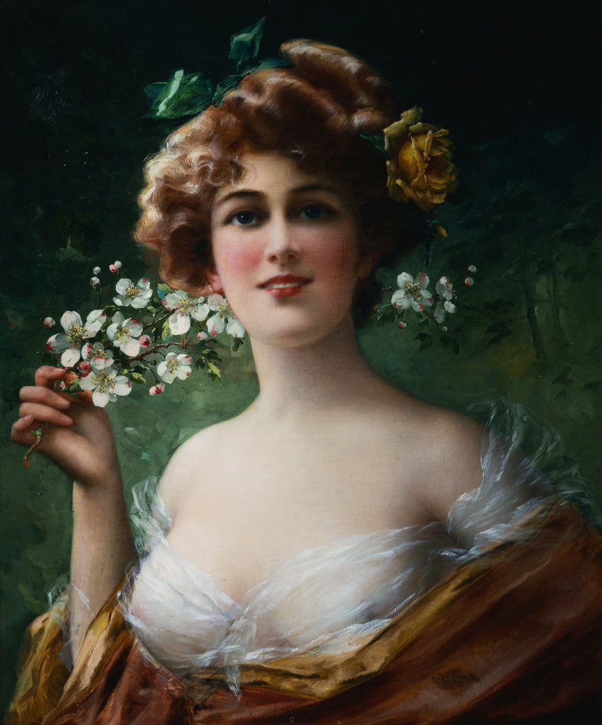 Detail of Blossoming Beauty by Emile Vernon