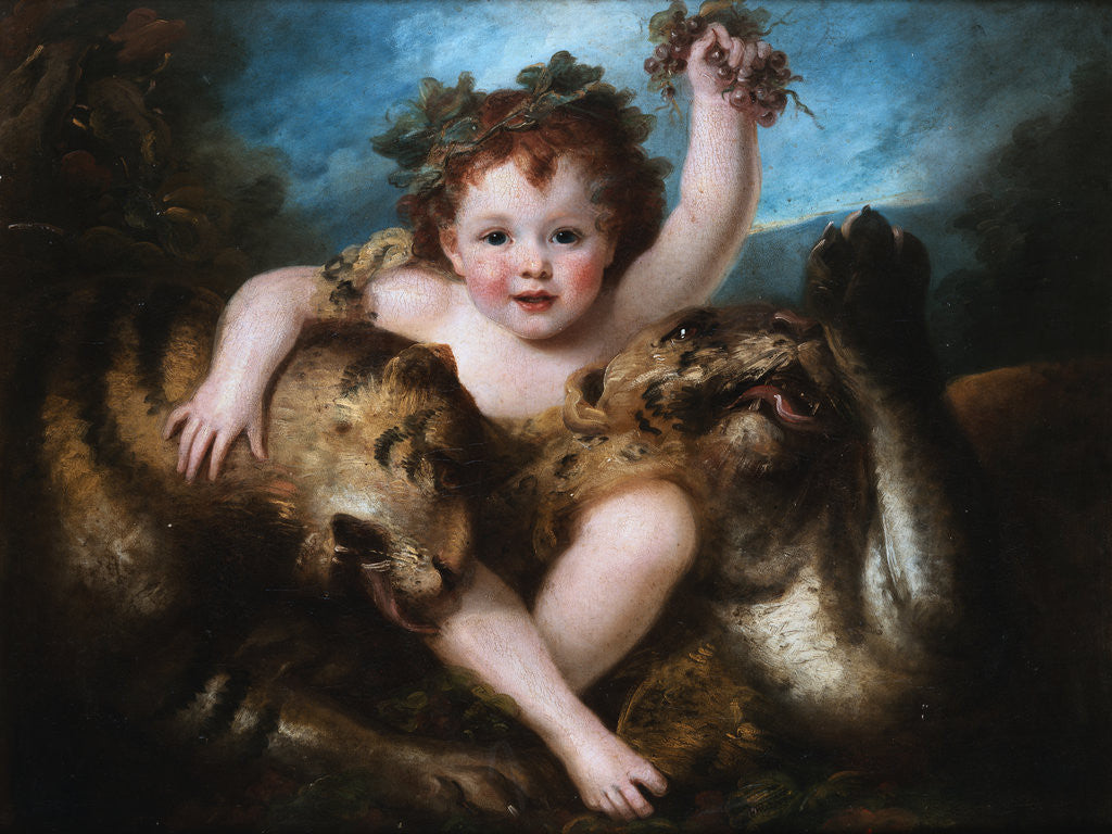 Detail of Portrait of the Hon. George Lamb as the Infant Bacchus by Maria Hadfield Cosway