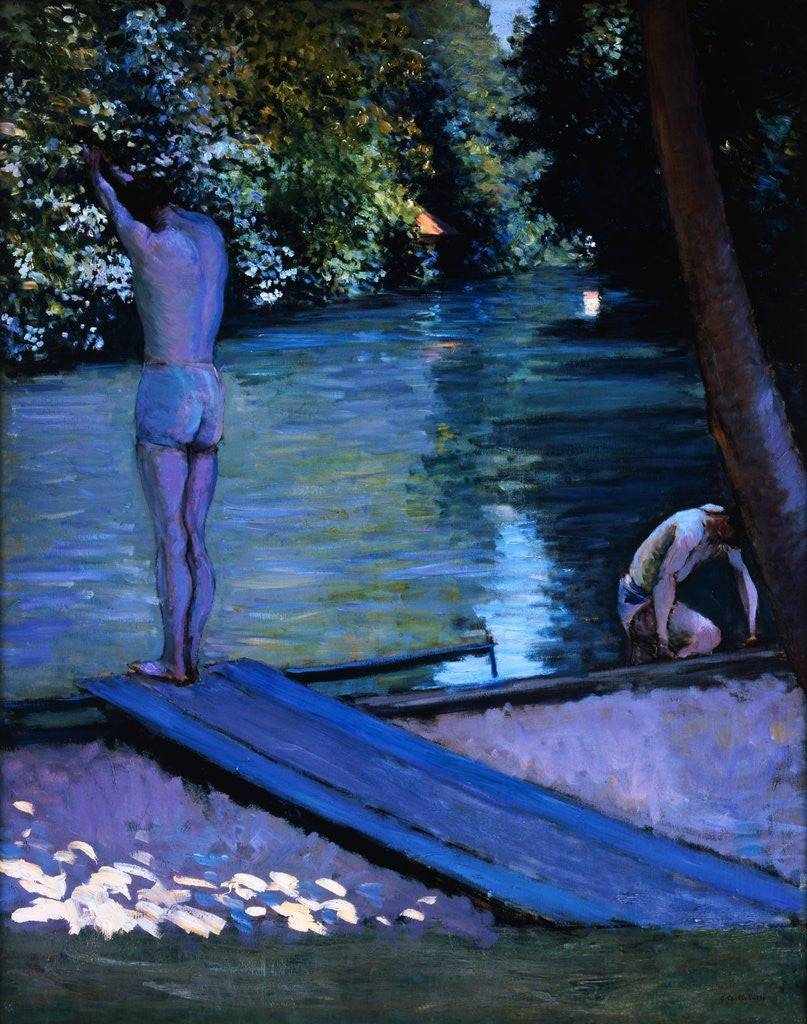 Detail of Bathers Preparing to Dive by Gustave Caillebotte