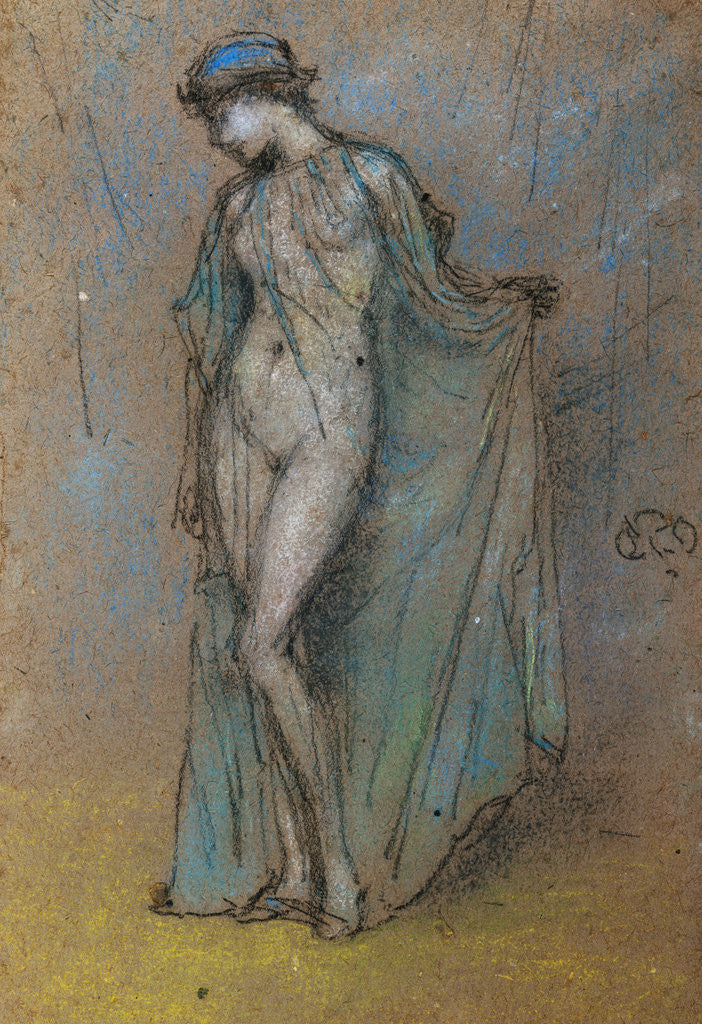 Female Nude with Diaphanous Gown posters & prints by James Abbott ...