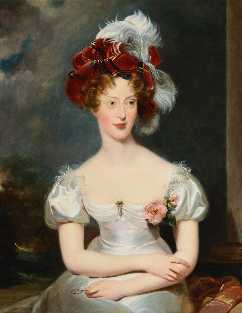 Detail of Portrait of Marie-Caroline, Duchesse de Berry by Sir Thomas Lawrence