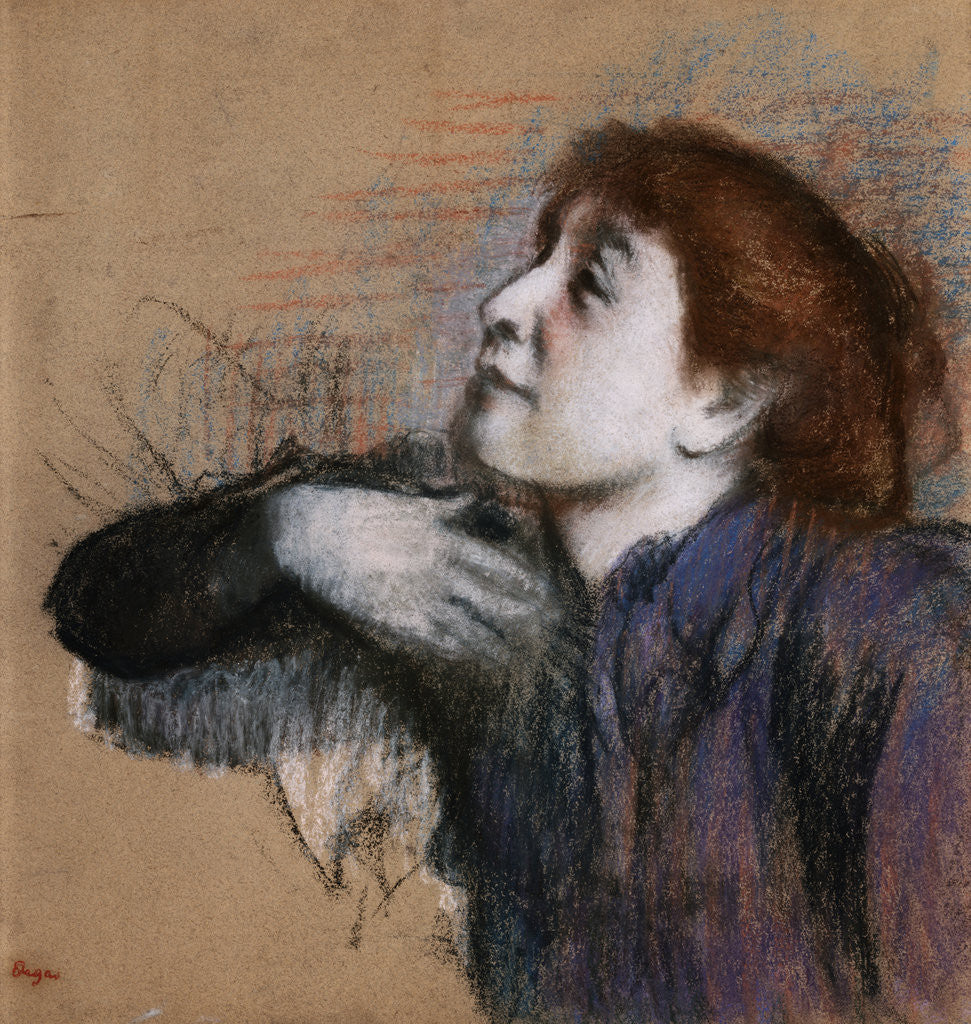 Detail of Bust of Woman by Edgar Degas