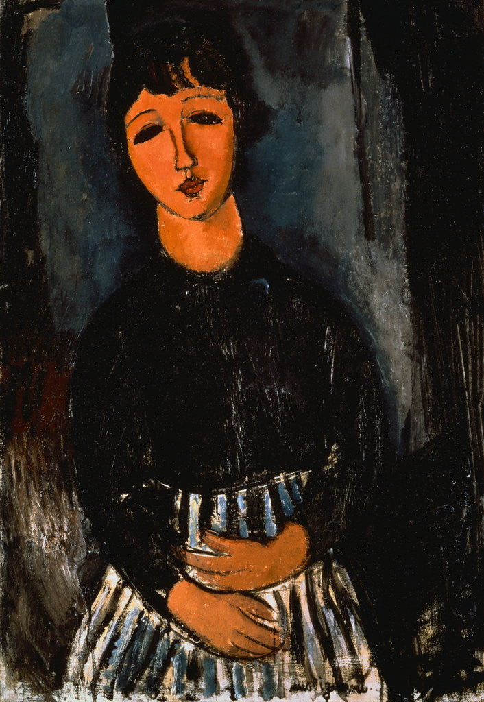Detail of Servant with Striped Apron by Amedeo Modigliani