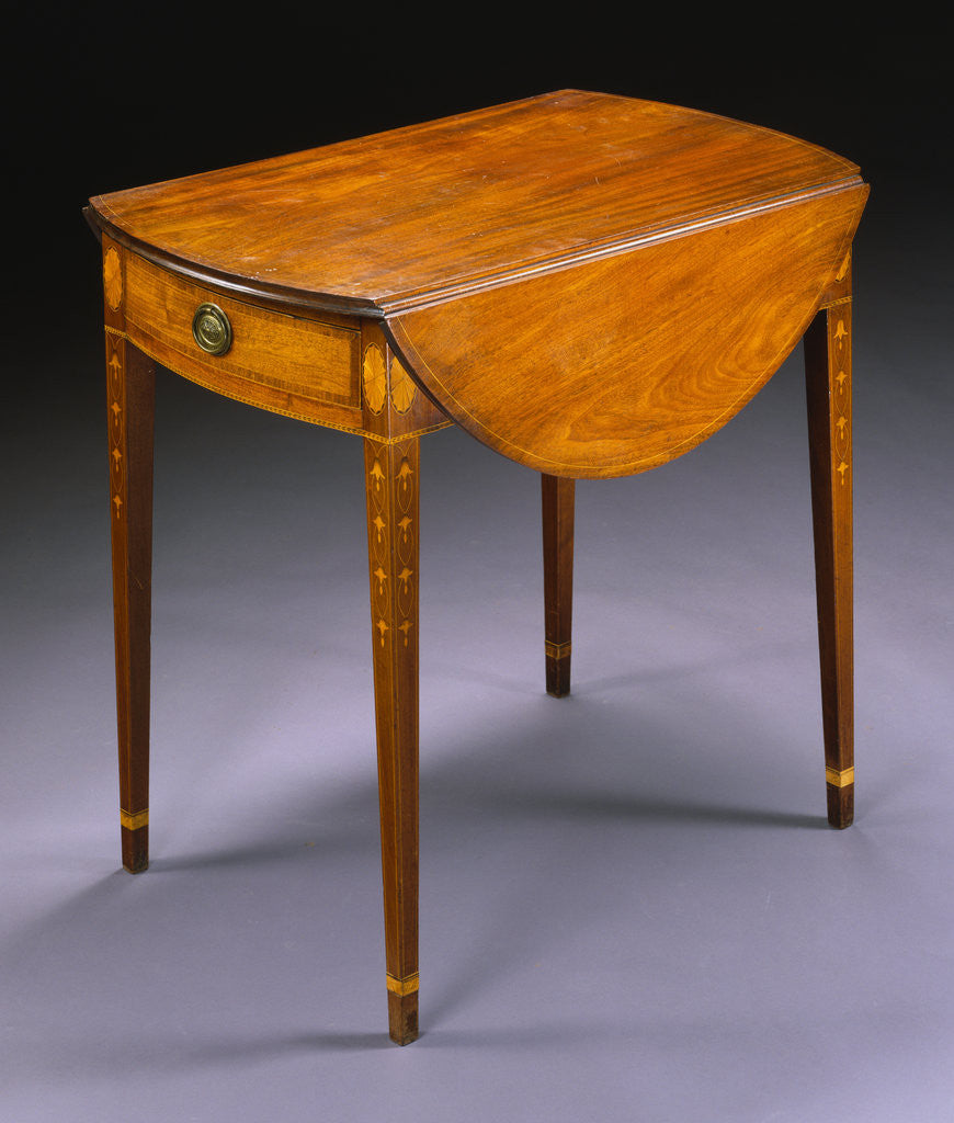 Detail of Federal Inlaid Mahogany Pembroke Table attributed to William Whitehead by Corbis