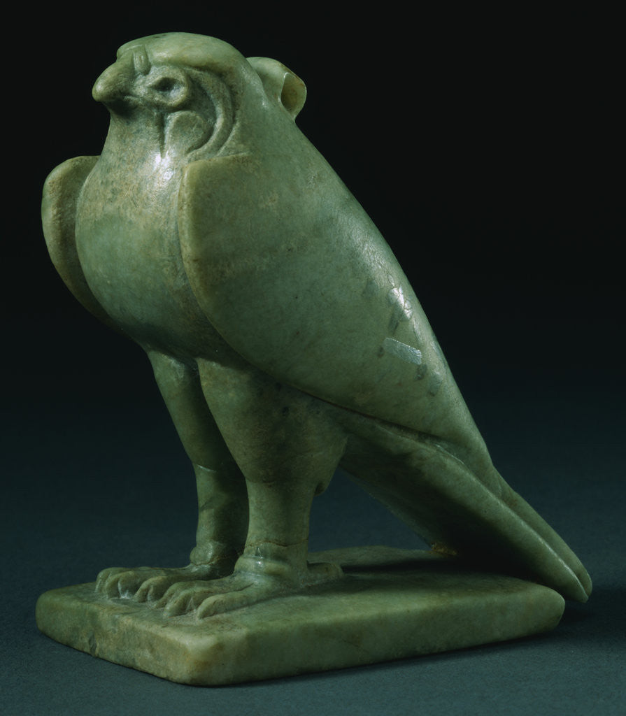 Detail of A Chlorite Falcon Amulet. Late Period, Dynasty XXVI-XXX (664-343 B.C.) by Corbis