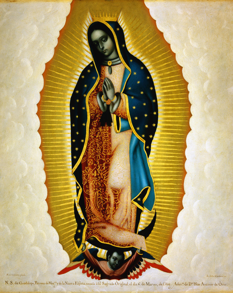Detail of The Virgin of Guadalupe by Miguel Cabrera