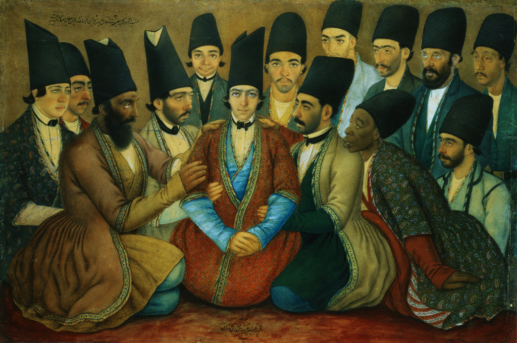 Detail of A Young Qajar Prince and His Entourage by Abu'l Hasan