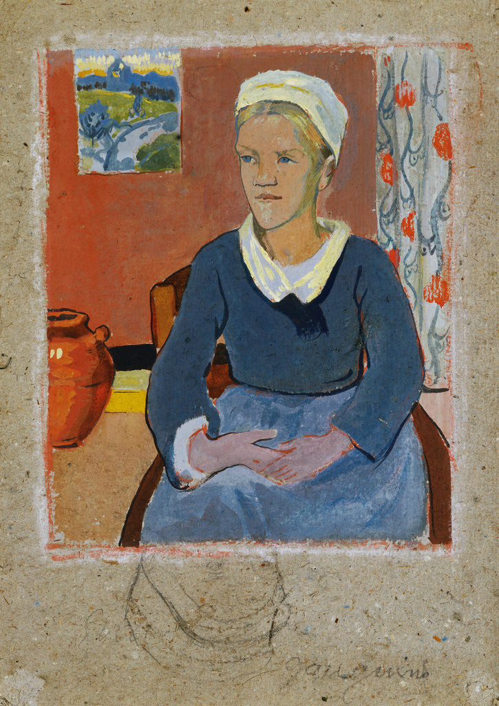 Detail of Breton Serving Girl or Maid by Paul Serusier