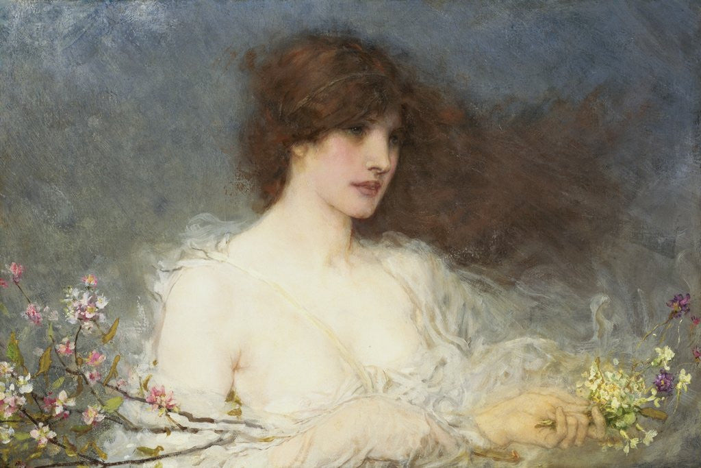 Detail of A Spring Idyll by George Henry Boughton