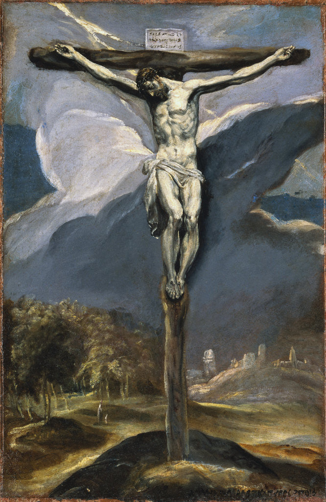 Detail of Christ on the Cross by El Greco