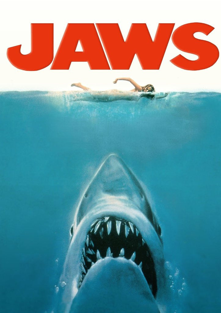 Detail of Jaws Movie Poster Original Artwork by Revolution Posters