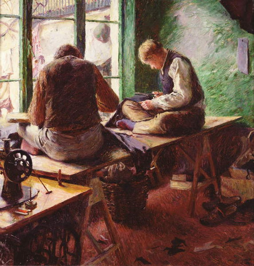 Detail of Tailors by Charles Mertens