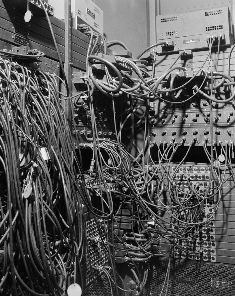 Detail of Cables on Early Computer by Corbis