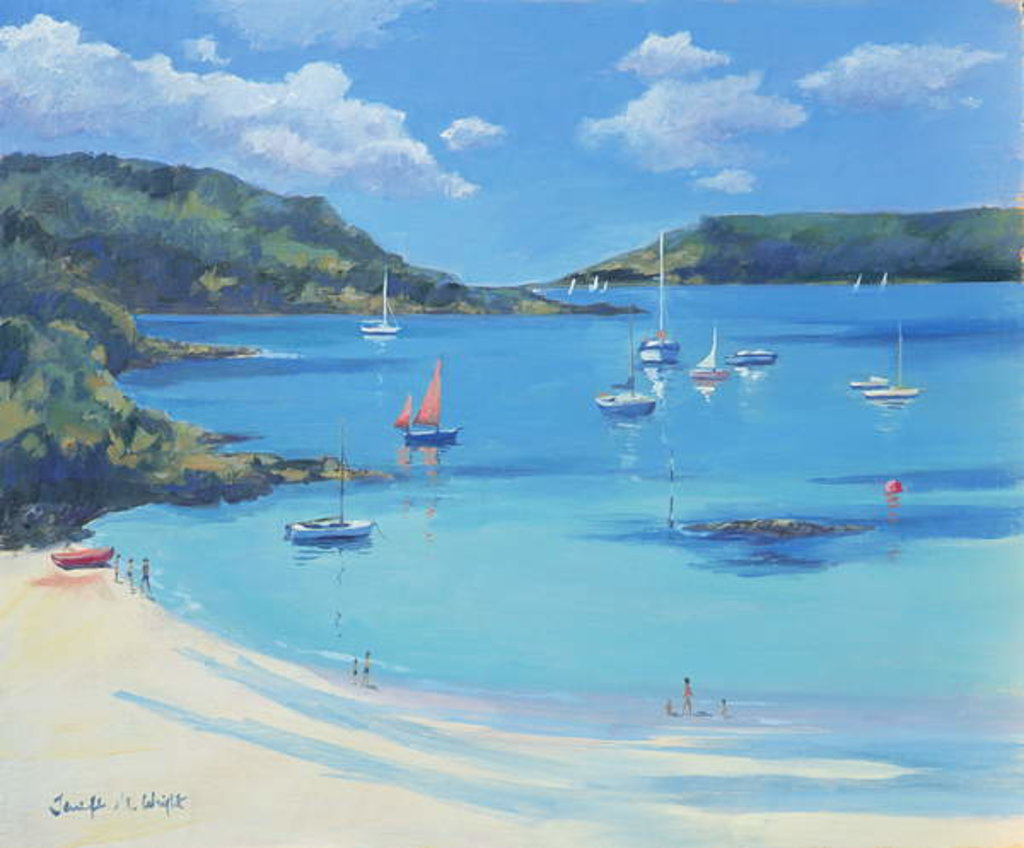 Detail of Sunny Cove, Salcombe, 2000 by Jennifer Wright