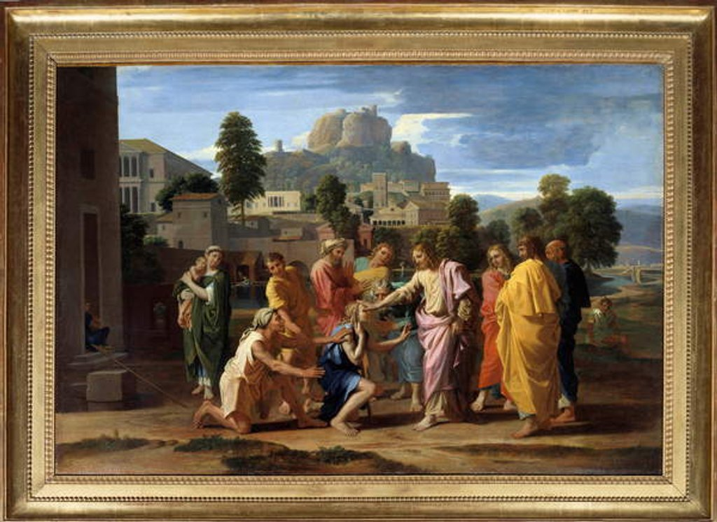 Detail of The blind of Jericho or the Christ waging the blind by Nicolas Poussin