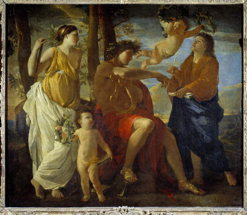 Detail of The inspiration of the poet Un poete by Nicolas Poussin
