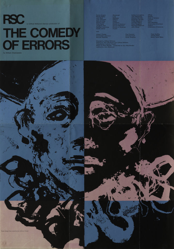 Detail of The Comedy of Errors, 1972 by Clifford Williams