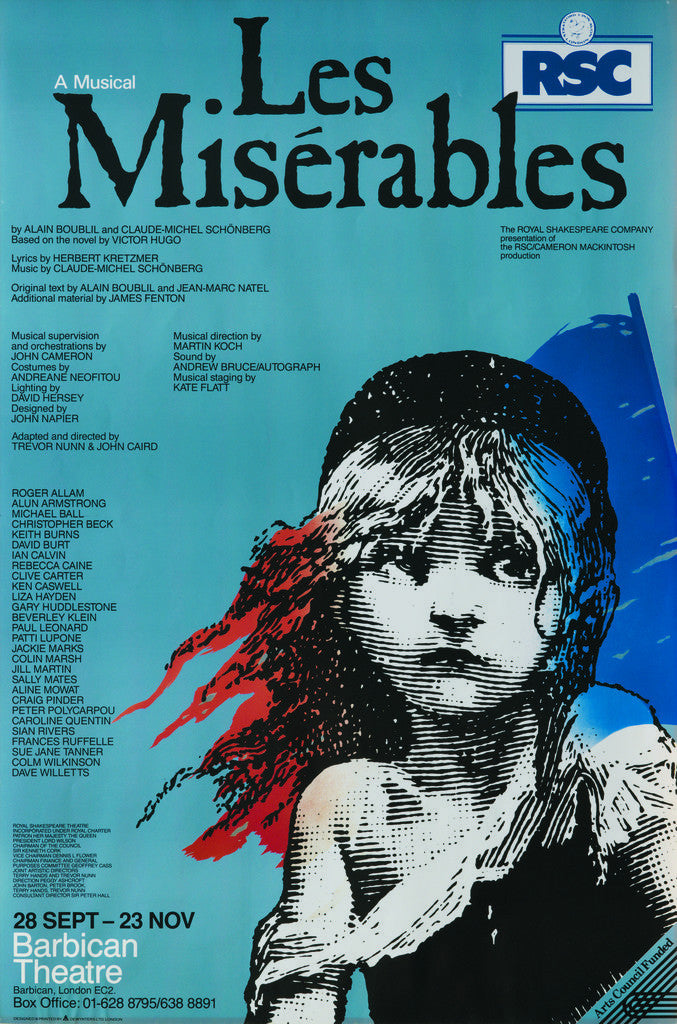 Detail of Les Miserables, 1985 by Trevor Nunn