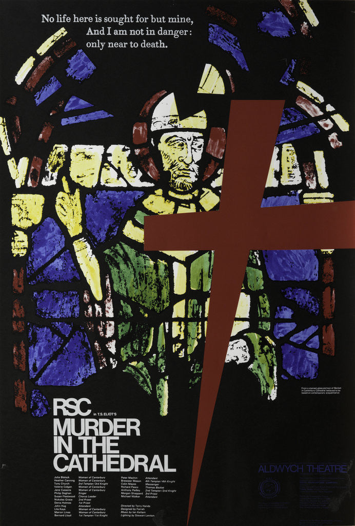 Detail of Murder in the Cathedral, 1972 by Terry Hands