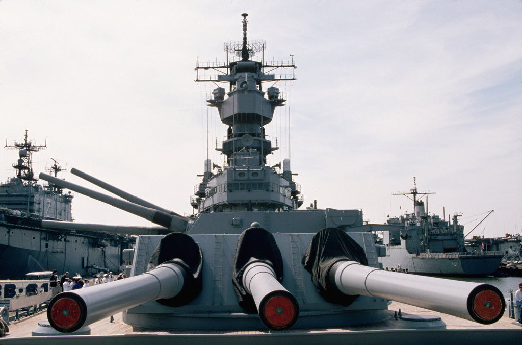 Gun Turrets of the U S S  Iowa