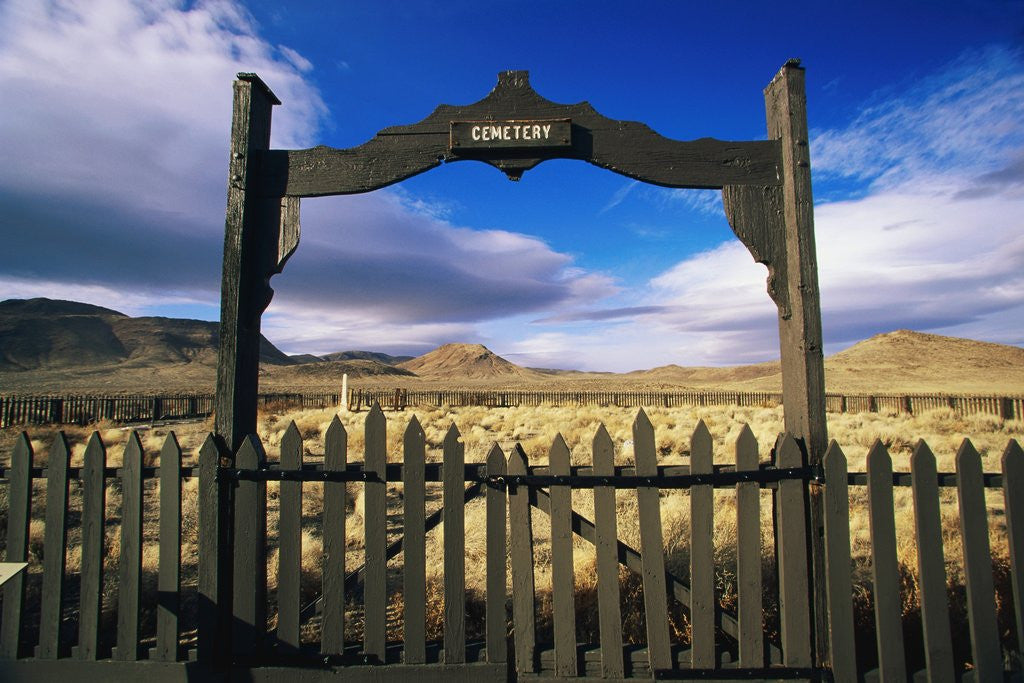 Detail of Gate To Historical Pioneer Cemetery by Corbis