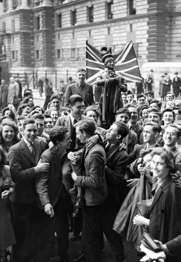Detail of VE Day celebrations in London 1945 by Nixon & Greaves