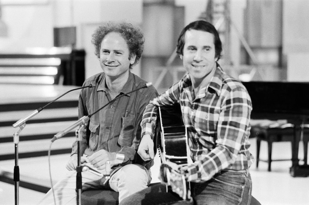 Detail of Simon and Garfunkel, 1977 by Alisdair MacDonald