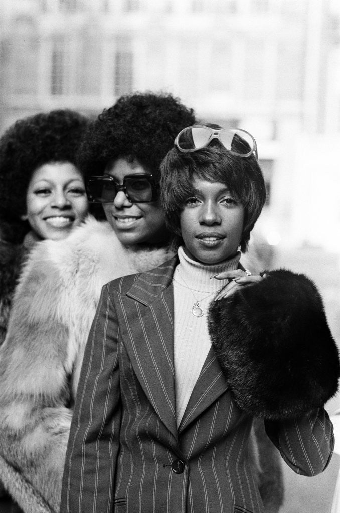 Detail of The Supremes, 1973 by Ron Burton
