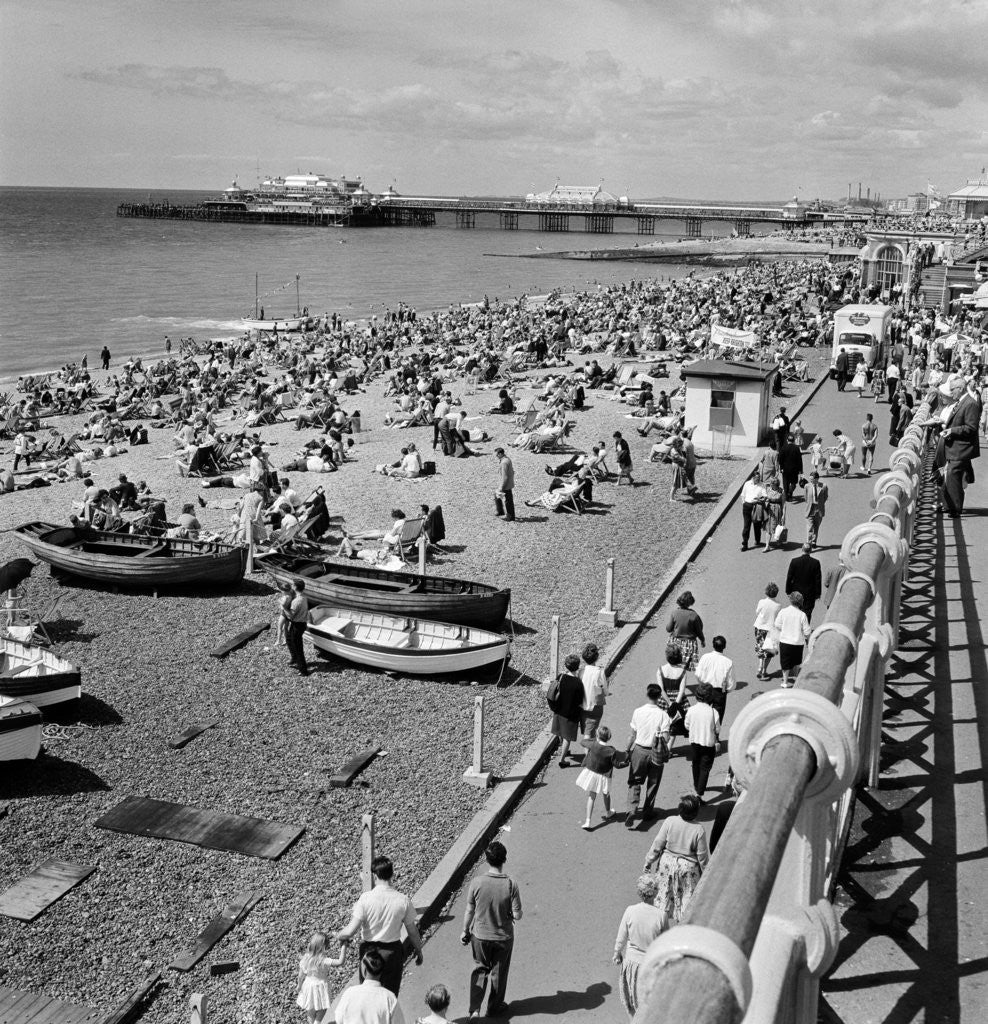 Detail of Brighton, East Sussex, 1962. by Staff