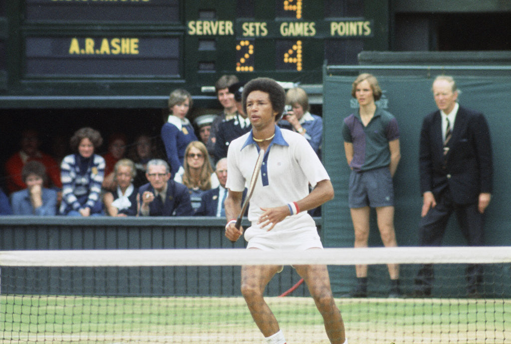 Detail of Arthur Ashe Wimbledon 1975 by J. Dempsie