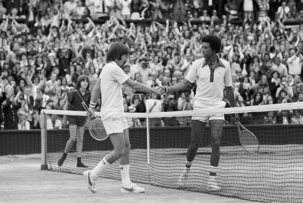 Detail of Arthur Ashe Wimbledon 1975 by Staff
