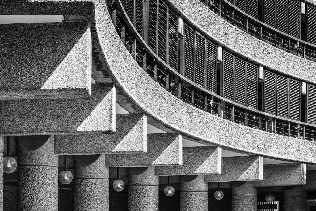 Detail of Brutalist Barbican Estate 09 by Joas Souza