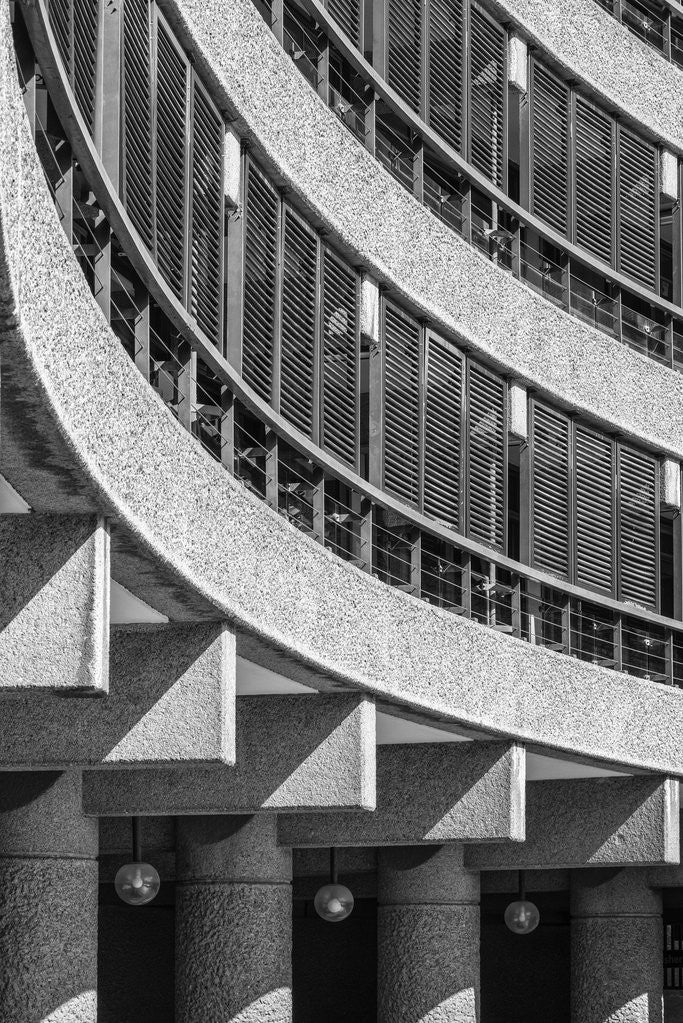 Detail of Brutalist Barbican Estate 10 by Joas Souza