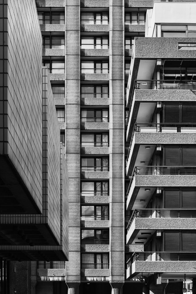 Detail of Brutalist Barbican Estate 13 by Joas Souza