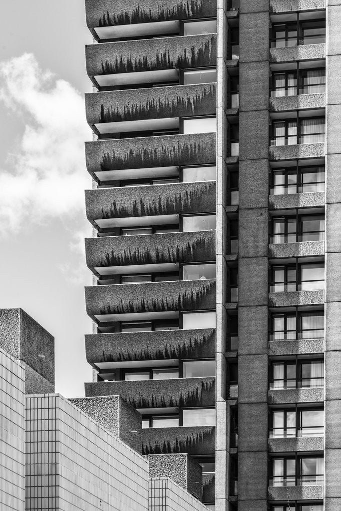 Detail of Brutalist Barbican Estate 15 by Joas Souza