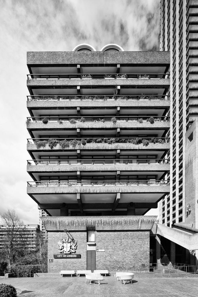 Detail of Brutalist Barbican Estate 32 by Joas Souza