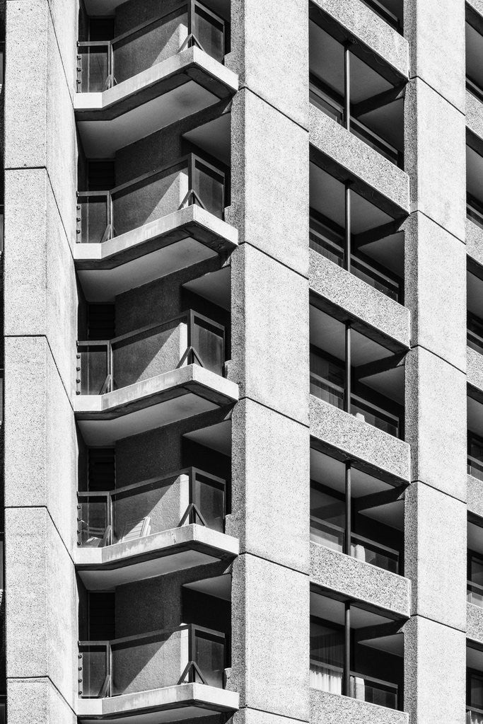 Detail of Brutalist Barbican Estate 40 by Joas Souza