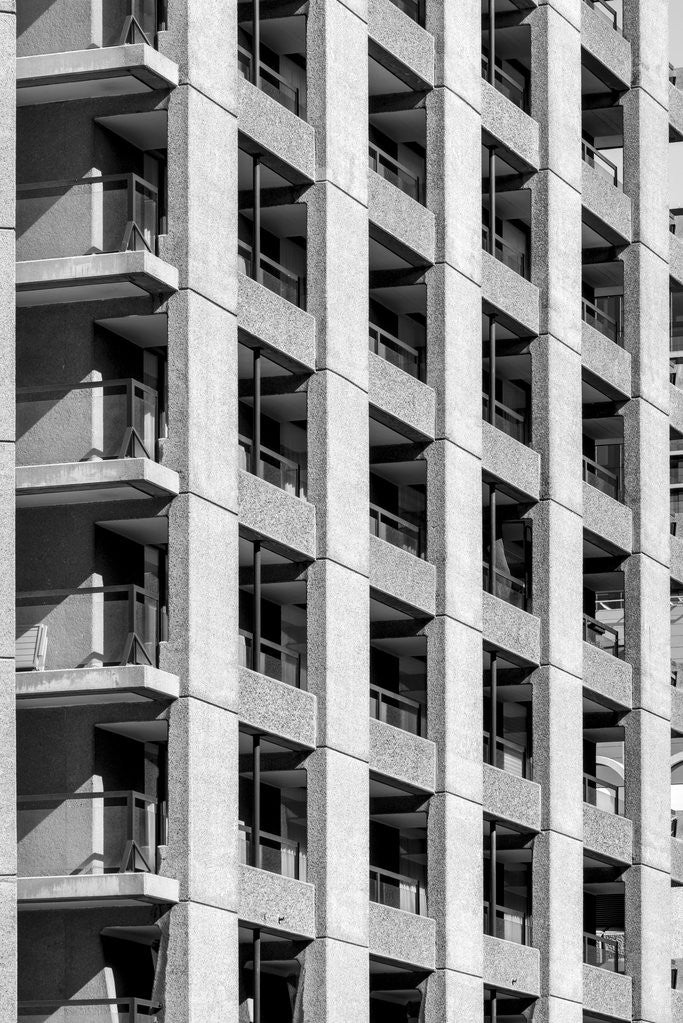 Detail of Brutalist Barbican Estate 42 by Joas Souza