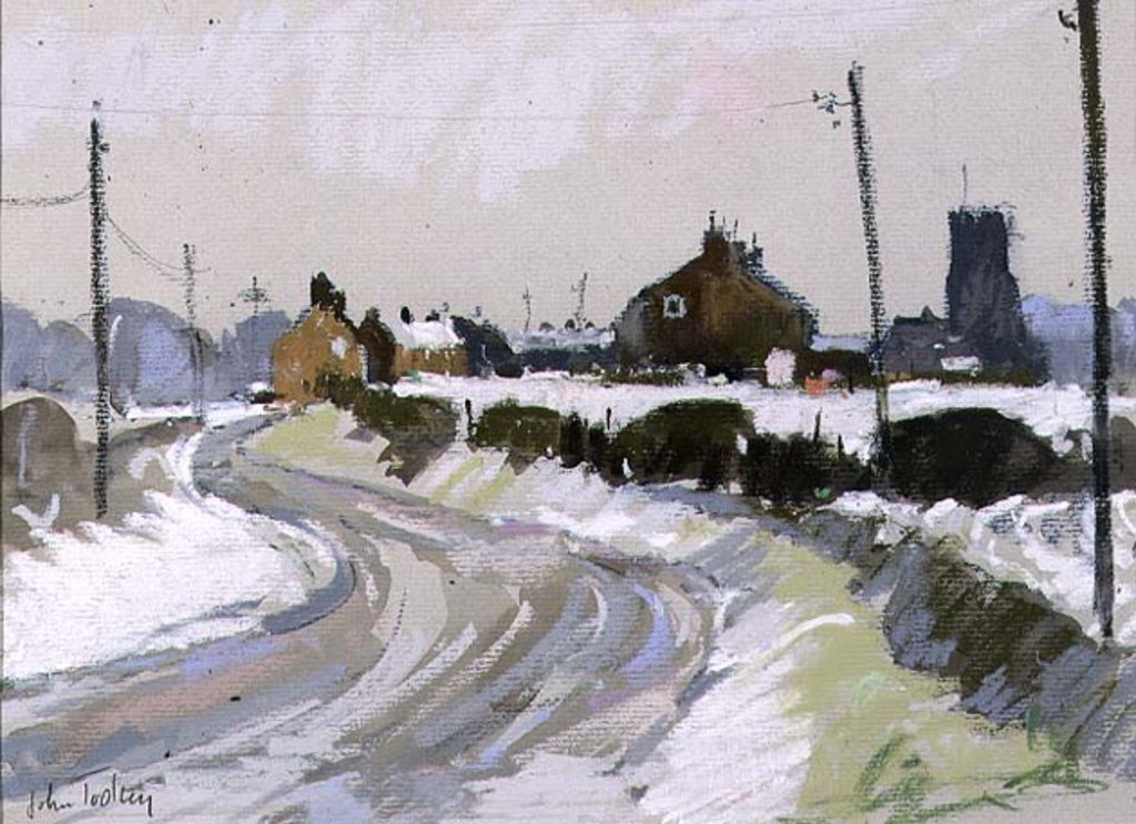 Detail of Winter Landscape by John Tookey