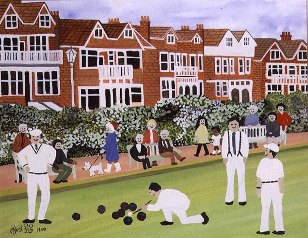 Detail of Bowling at Eastbourne by Judy Joel