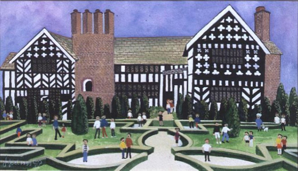 Detail of Little Moreton Hall by Judy Joel