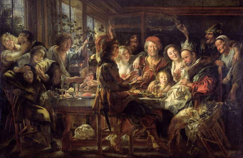 Detail of The Bean Feast 1637-38 by Jacob Jordaens