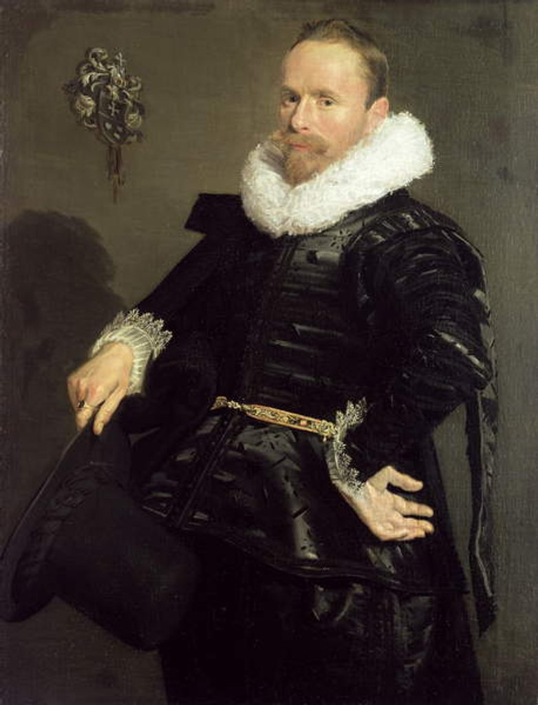 Detail of Portrait of a Man, 1618-20 by Frans Hals
